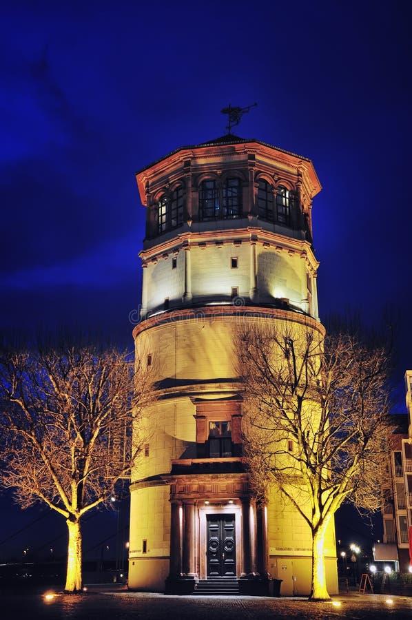 Schlossturm in Dusseldorf stock afbeelding