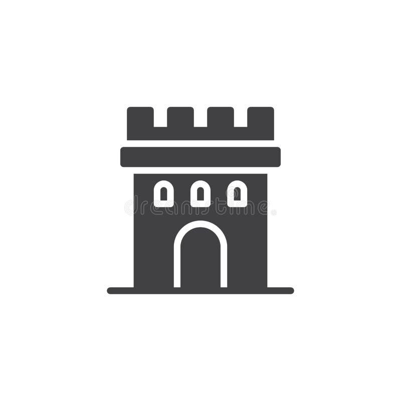 Schlossturm-Ikonenvektor lizenzfreie abbildung