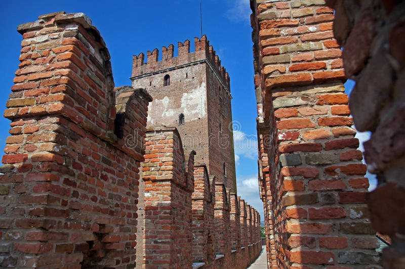 Schlosswand stockfoto