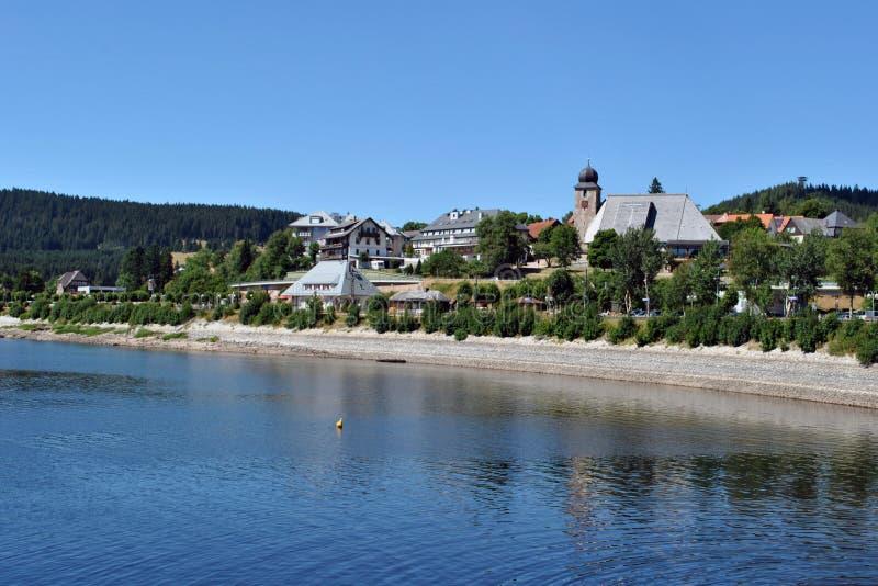 Schluchsee i jezioro - Czarny las zdjęcia stock