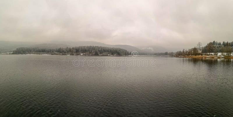 Schluchsee im Nebel στοκ φωτογραφία