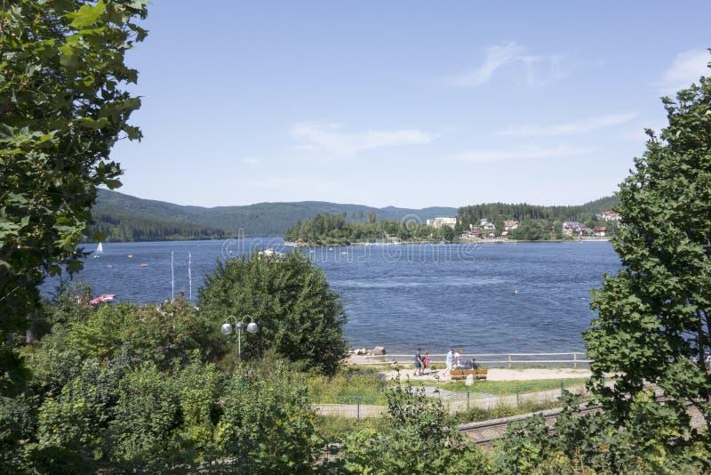 Schluchsee jezioro obrazy stock