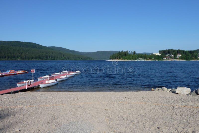 Schluchsee jezioro fotografia royalty free