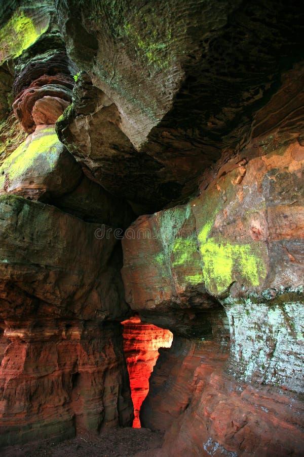 Schlucht des roten Sandsteins stockfoto