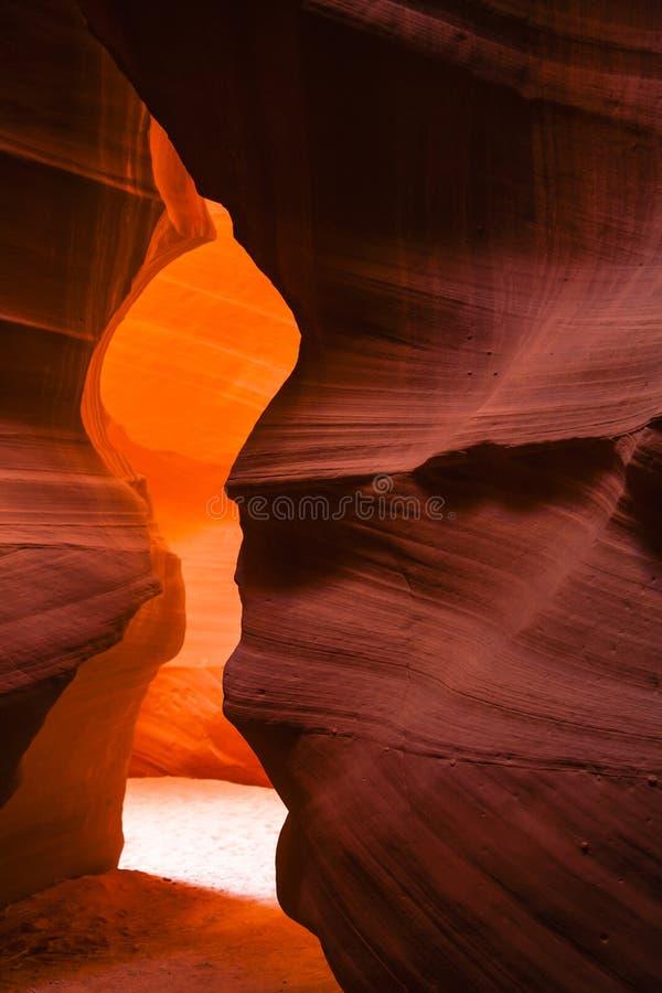 Schlucht des Schlitz-(Antilope): Kerzen-Flammen-gebogener Felsen F lizenzfreie stockfotografie
