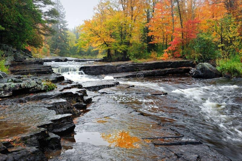 Schlucht fällt Michigan-Herbst-Wasserfall lizenzfreie stockfotos
