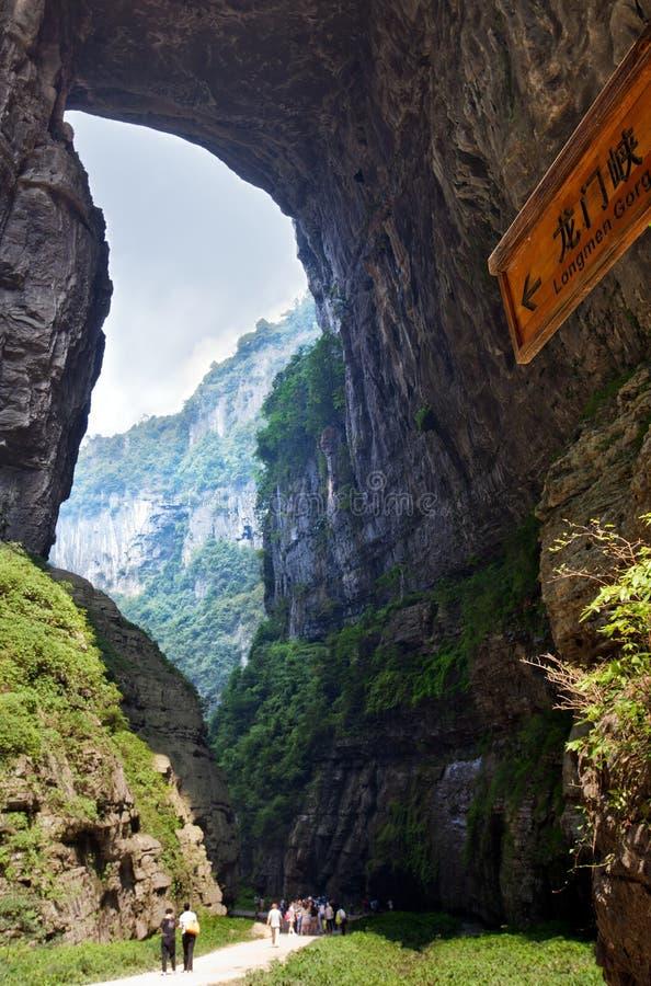 Schlucht im wulong, Chongqing, Porzellan lizenzfreie stockfotografie