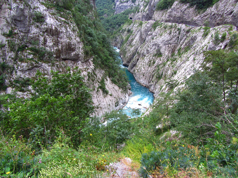 Schlucht in Montenegro lizenzfreie stockbilder