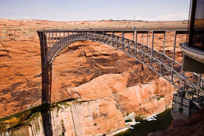 Schlucht-Schlucht-Verdammungs-Brücke lizenzfreie stockfotos