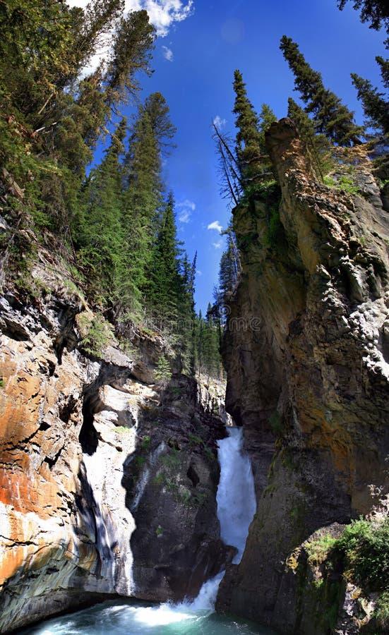 Schlucht-Wasserfall Kanada stockfoto