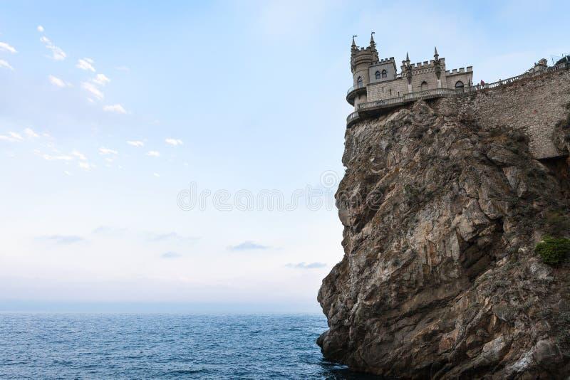 Schlucken Sie Nest-Schloss auf Kap Ays Todor in Krim lizenzfreie stockfotos