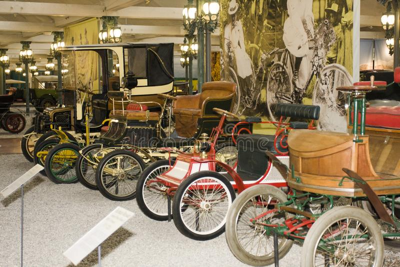 Schlumpf Car Collection, at Cité de l`Automobile National Museum in Mulhouse, Alasace France. La. Mulhouse, France 10 -15-2018. Schlumpf Car Collection, at royalty free stock photography