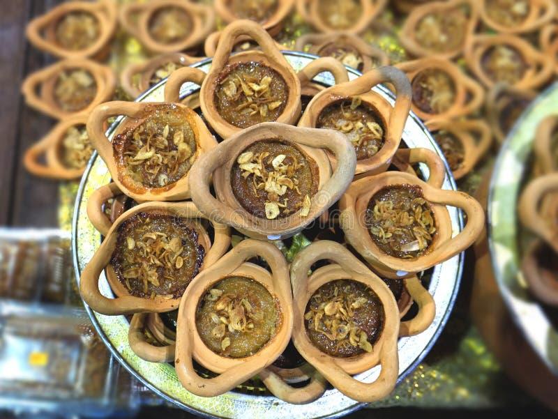 Schlund Kaeng Mungs Bean Thai Custard Dessert Recipe Khanom stockfoto