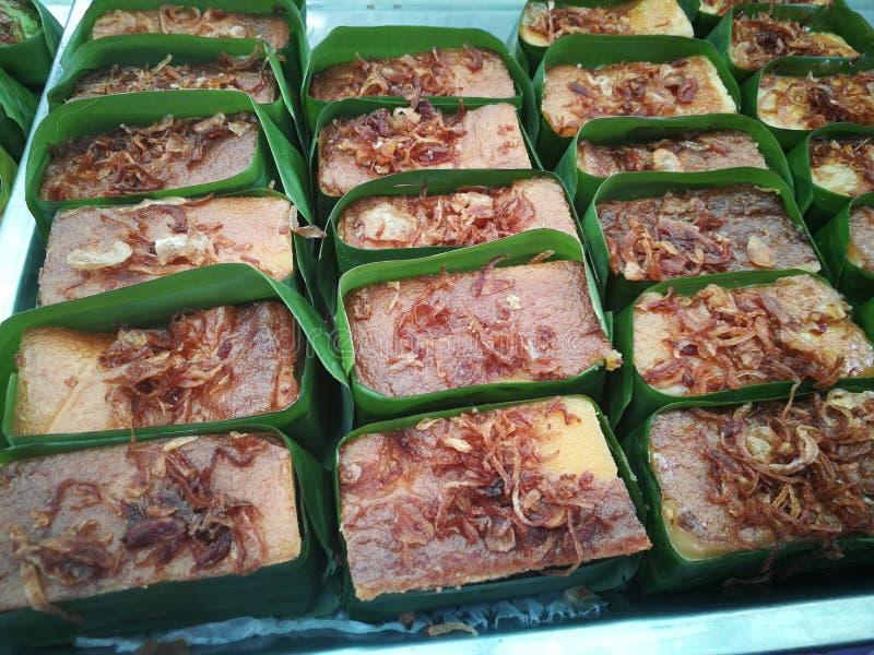 Schlund Kaeng Mungs Bean Thai Custard Dessert Recipe Khanom lizenzfreies stockbild