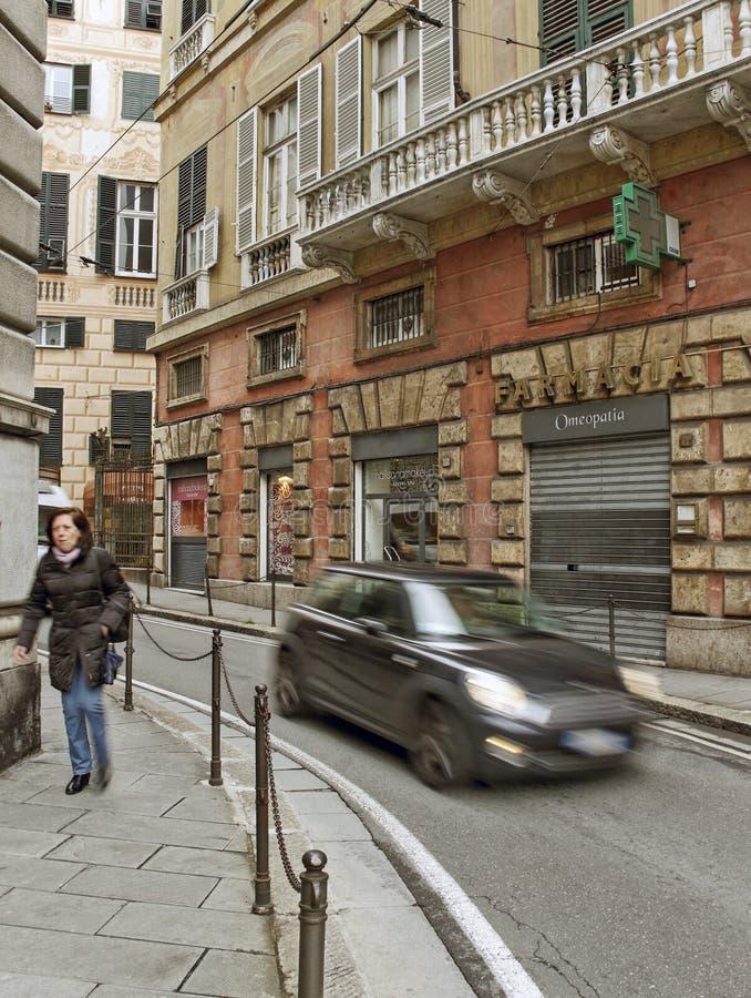 Schmale Genua-Straße lizenzfreies stockbild
