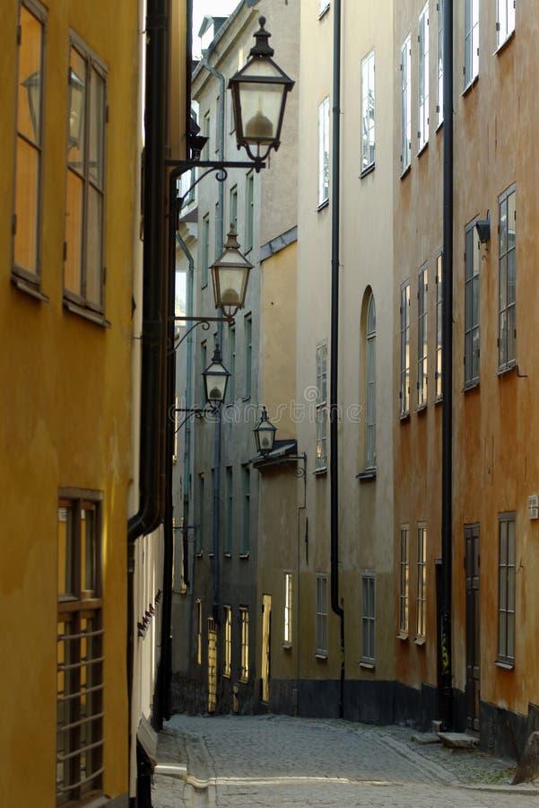 Schmale Straße stockfoto