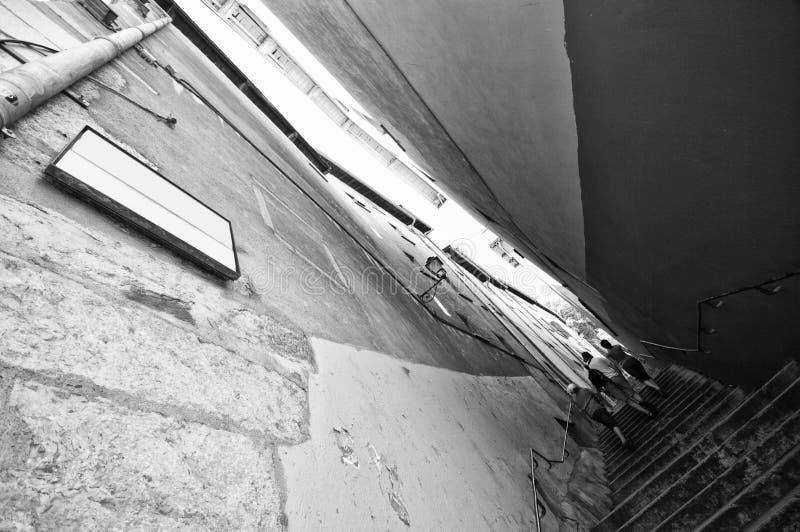 Schmale Treppen in Lyon stockfotos