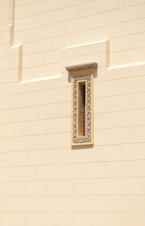 Schmales Fenster stockfoto