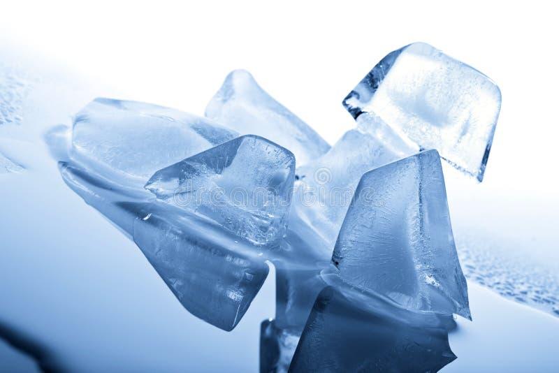 Schmelzende Eiswürfel stockbild
