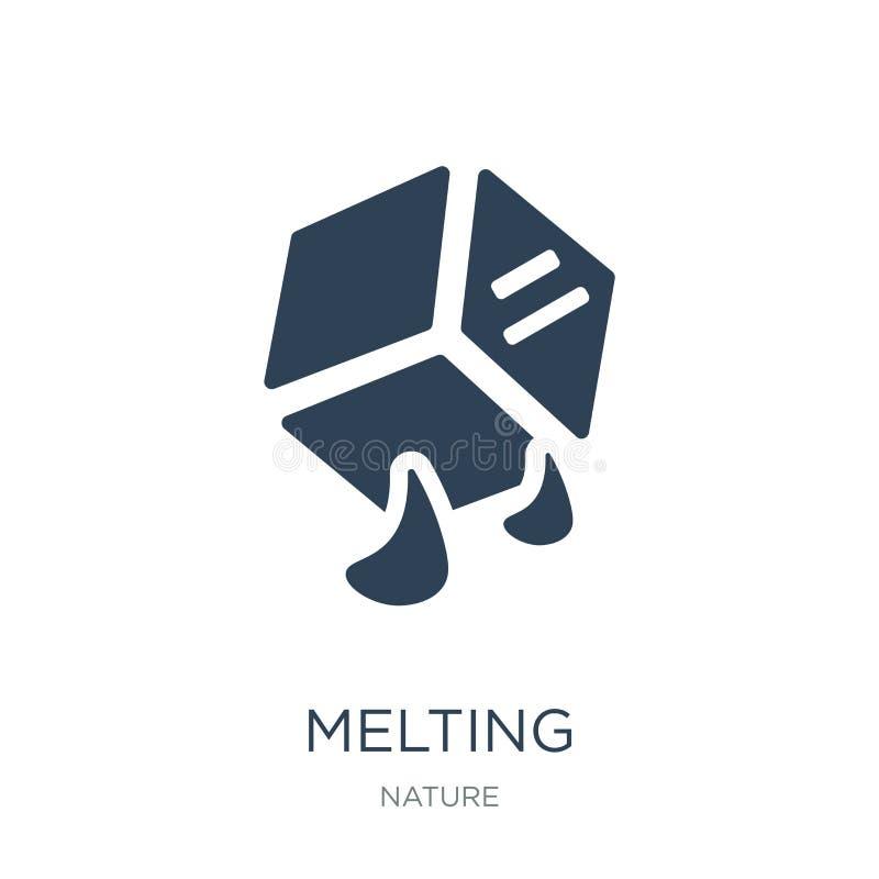 schmelzende Ikone in der modischen Entwurfsart schmelzende Ikone lokalisiert auf weißem Hintergrund einfaches und modernes flache lizenzfreie abbildung