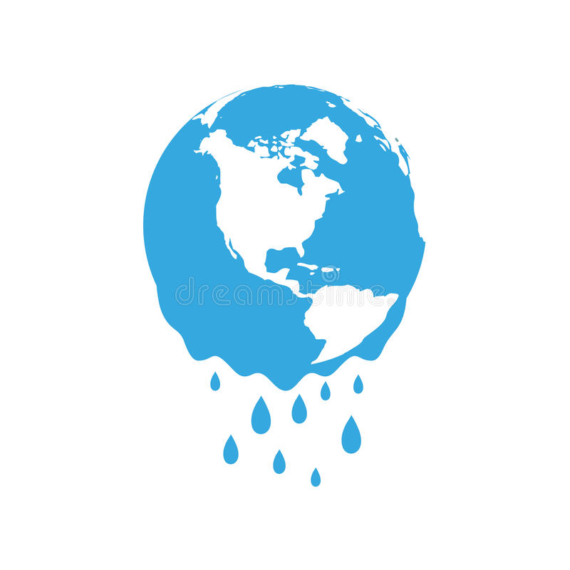 Schmelzende Planet Erde Globale Erwärmung des Konzeptes stock abbildung