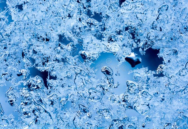 Schmelzende Schnee-Kristalle lizenzfreie stockbilder