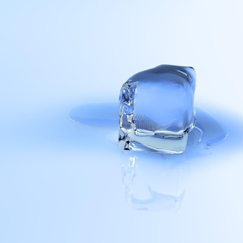 Schmelzender Eiswürfel stock abbildung