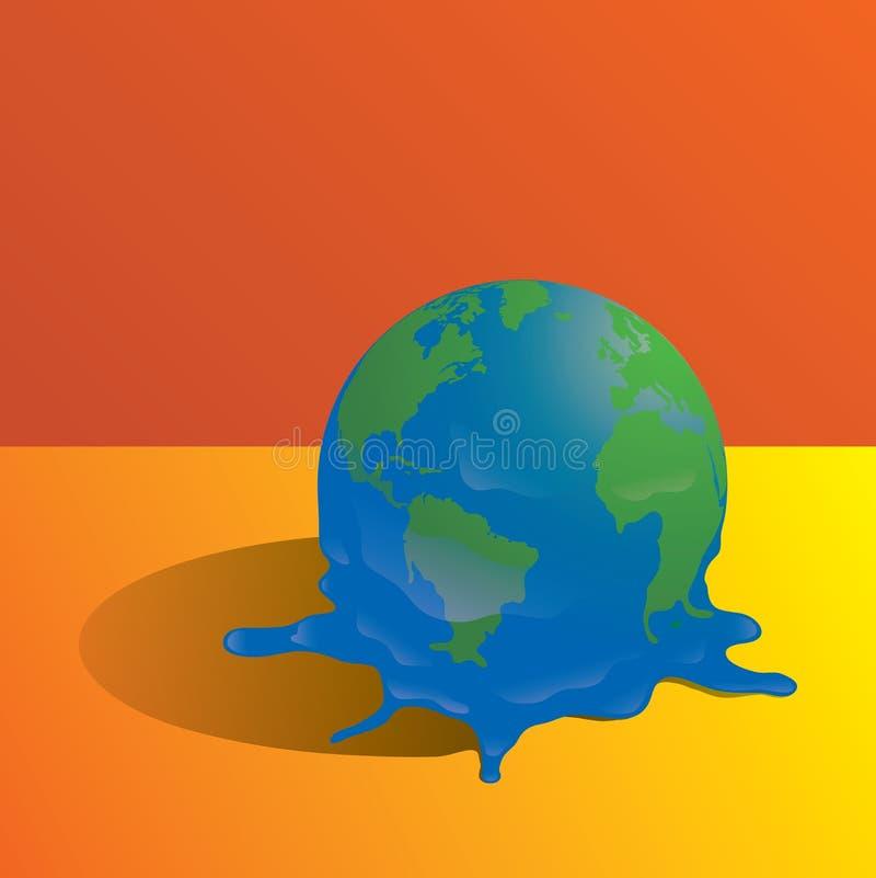 Schmelzender Planet vektor abbildung