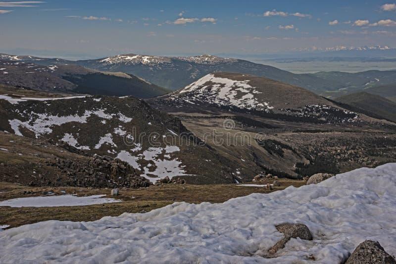 Schmelzendes Eistal auf Mt Evans, Colorado lizenzfreies stockfoto