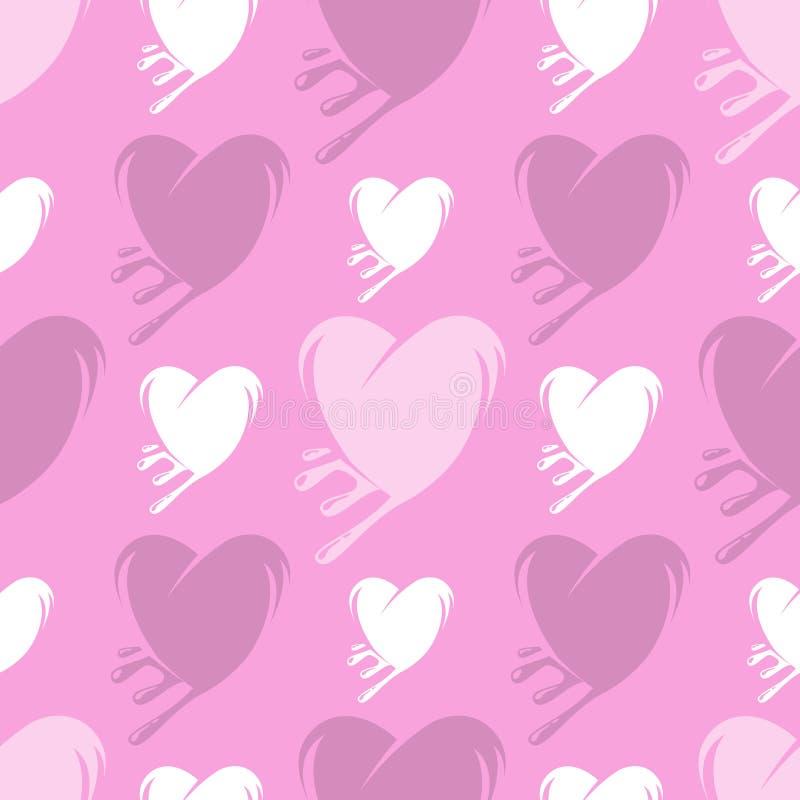 Schmelzendes nahtloses Muster der Herzen lizenzfreie abbildung