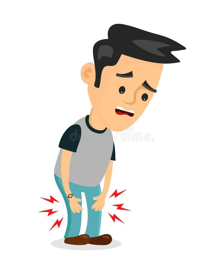 Schmerz in den Beinproblemen Vektor flach stock abbildung