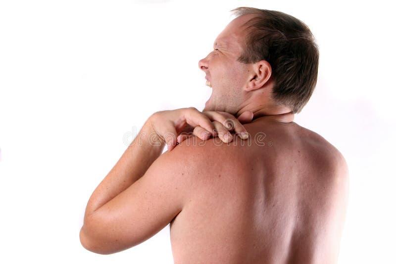 Schmerz eines Mannes lizenzfreies stockfoto