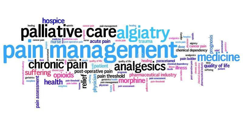Schmerzen Sie Management stock abbildung
