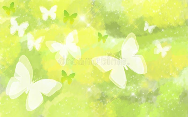 Schmetterling auf natürlichem bokeh Hintergrund stockfoto