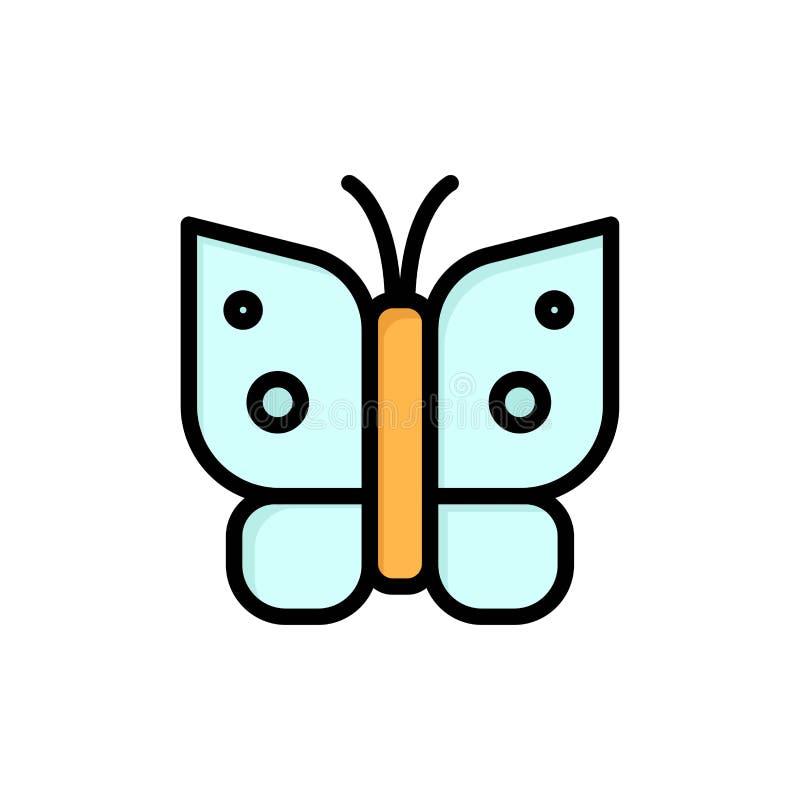 Schmetterling, Freiheit, Insekt, Flügel-flache Farbikone Vektorikonen-Fahne Schablone vektor abbildung