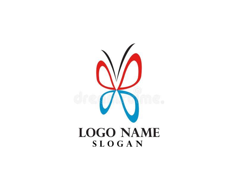Schmetterling Logo Template lizenzfreie abbildung