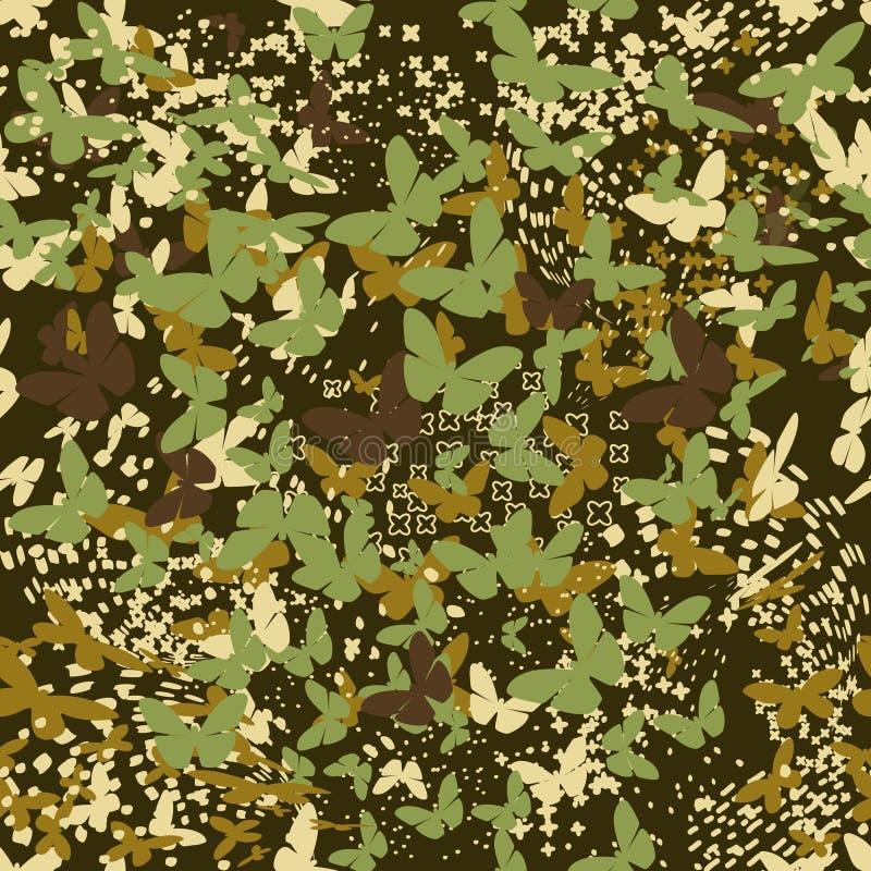Schmetterlinge tarnen nahtloses Muster für städtisches Design vektor abbildung