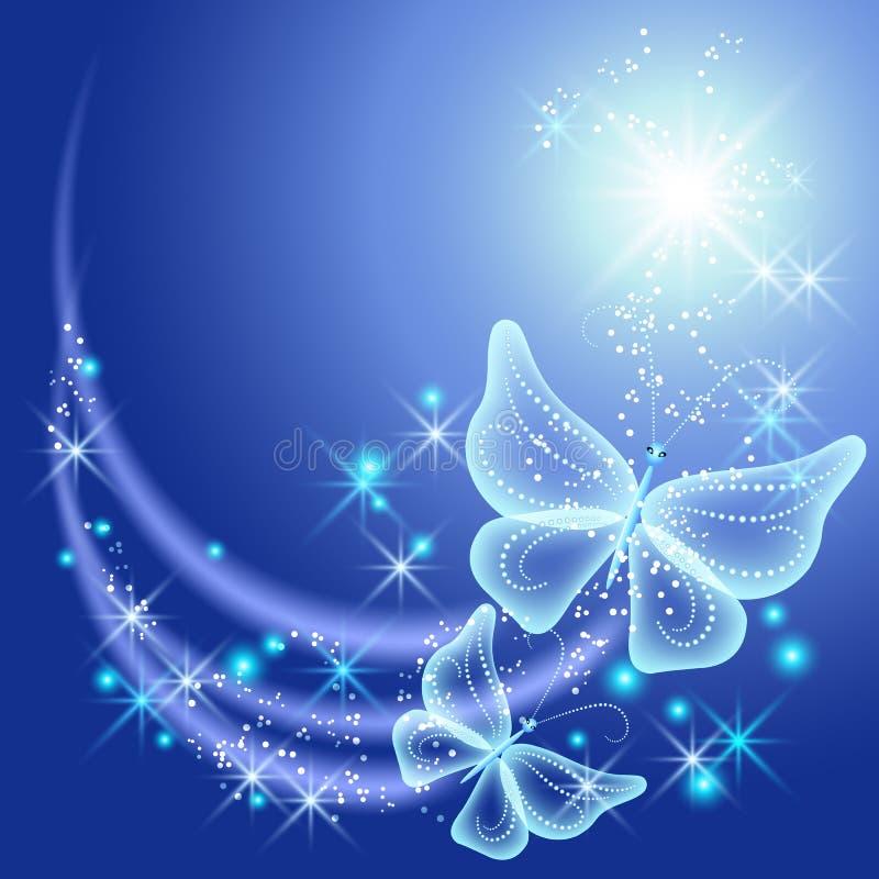 Schmetterlinge und Sterne lizenzfreie abbildung