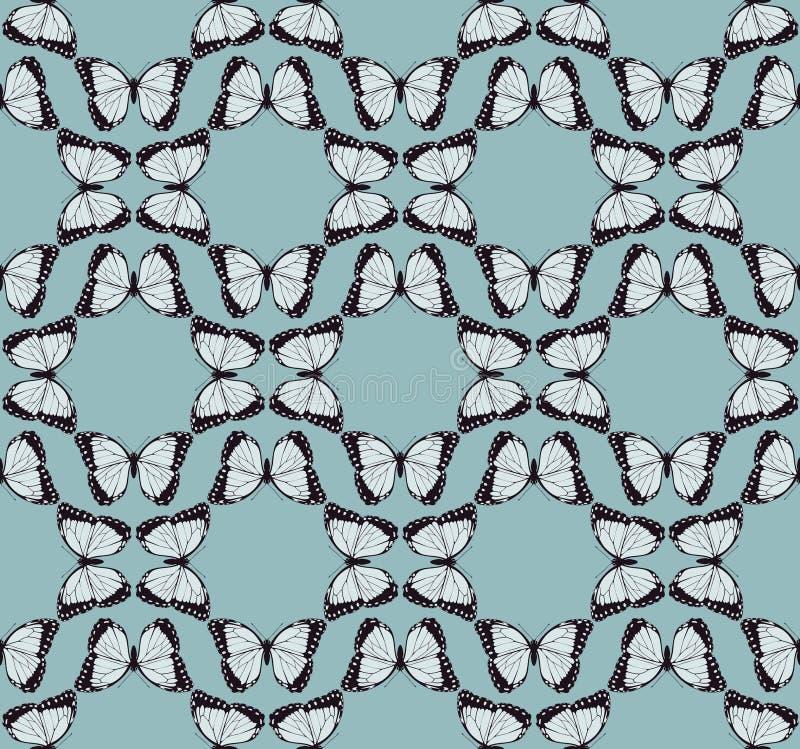 Schmetterlings-Hintergrund-Muster stock abbildung