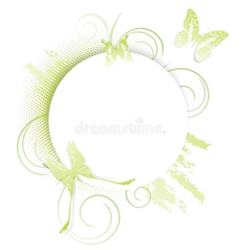 Schmetterlings-Rahmen vektor abbildung