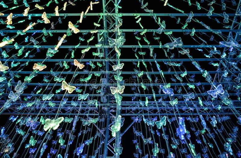 Schmetterlingsacryl von LED-Licht stockbilder
