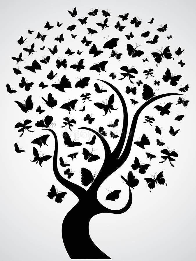 Schmetterlingsbaum vektor abbildung