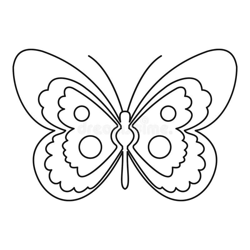 Schmetterlingsikone, Entwurfsart stock abbildung