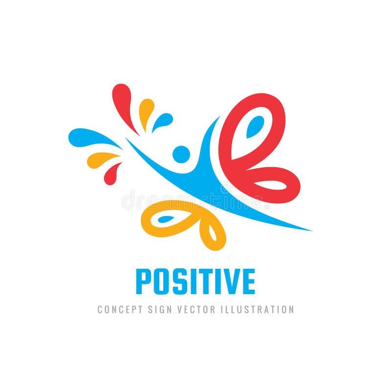 Schmetterlingsinsektenvektor-Logoschablone Schönheitssalon - kreative Illustration des Zeichens menschlicher Charakter Abstrakte  lizenzfreie abbildung