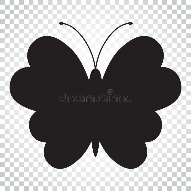 Download Schmetterlingsvektorikone Schattenbild Einer Schmetterlingsillustration S Vektor Abbildung - Illustration von getrennt, schattenbild: 96935912