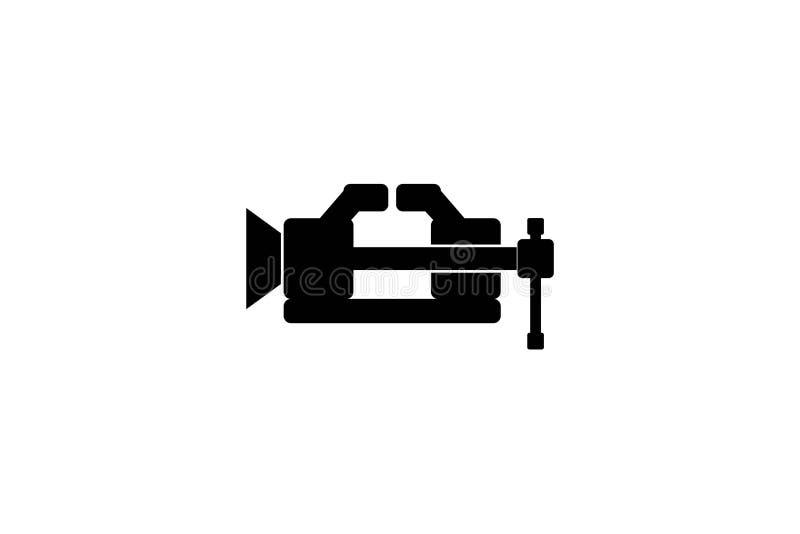 Schmiede Logo Designs Inspiration Isolated auf weißem Hintergrund lizenzfreie abbildung