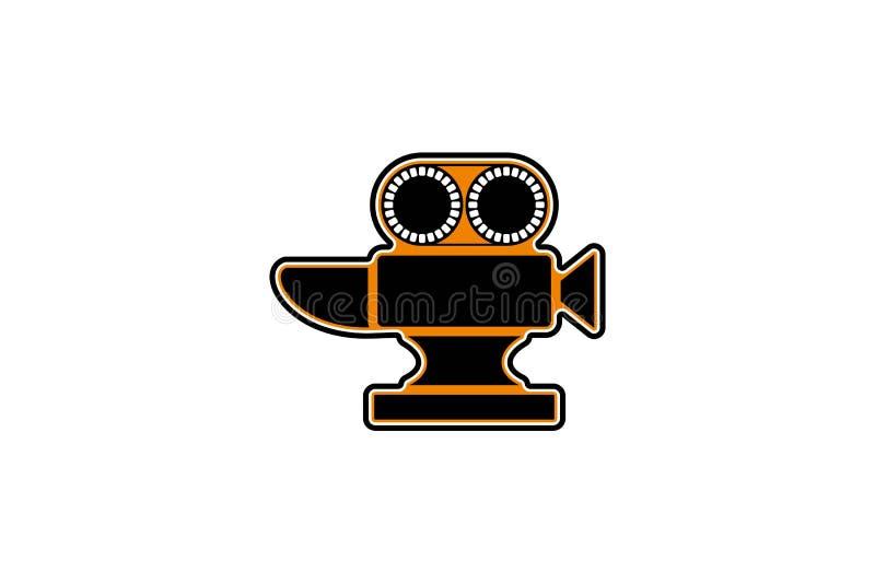 Schmiede Logo Designs Inspiration Isolated auf weißem Hintergrund stock abbildung