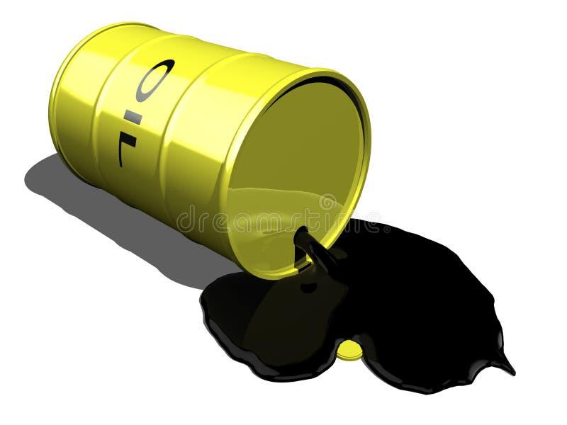 Schmieröl, das 2 verschüttet stock abbildung