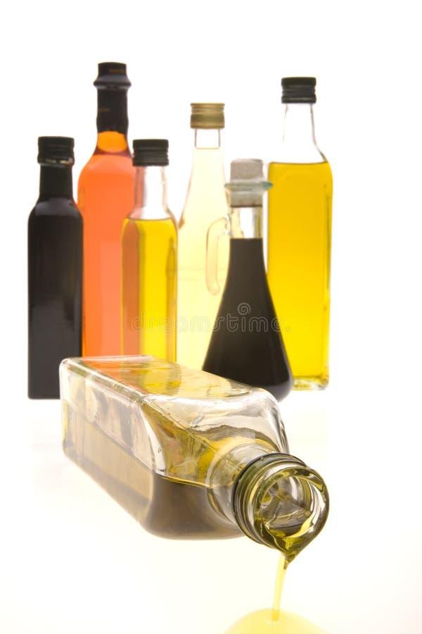 Schmieröl-Flaschen stockbild