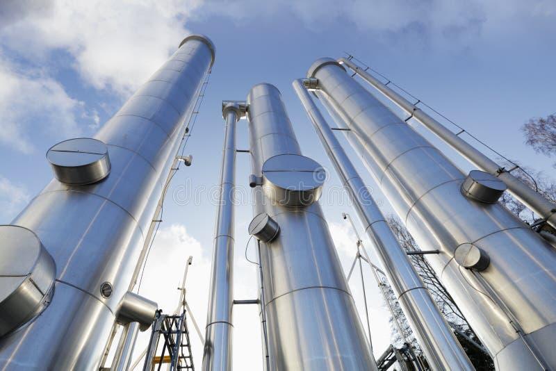 Schmieröl-, Gas- und Kraftstoffrohre stockbilder